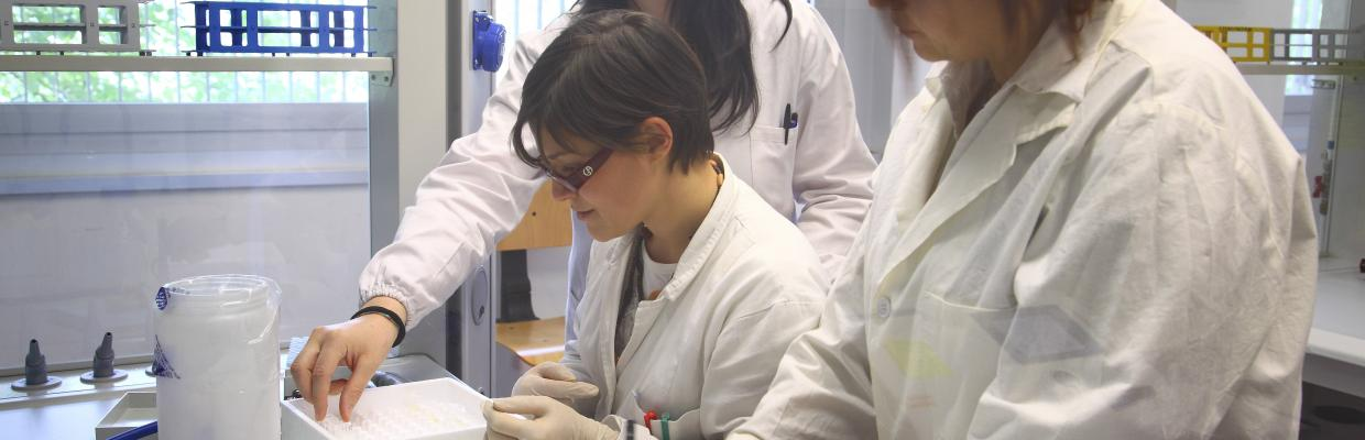 Studentesse in laboratorio